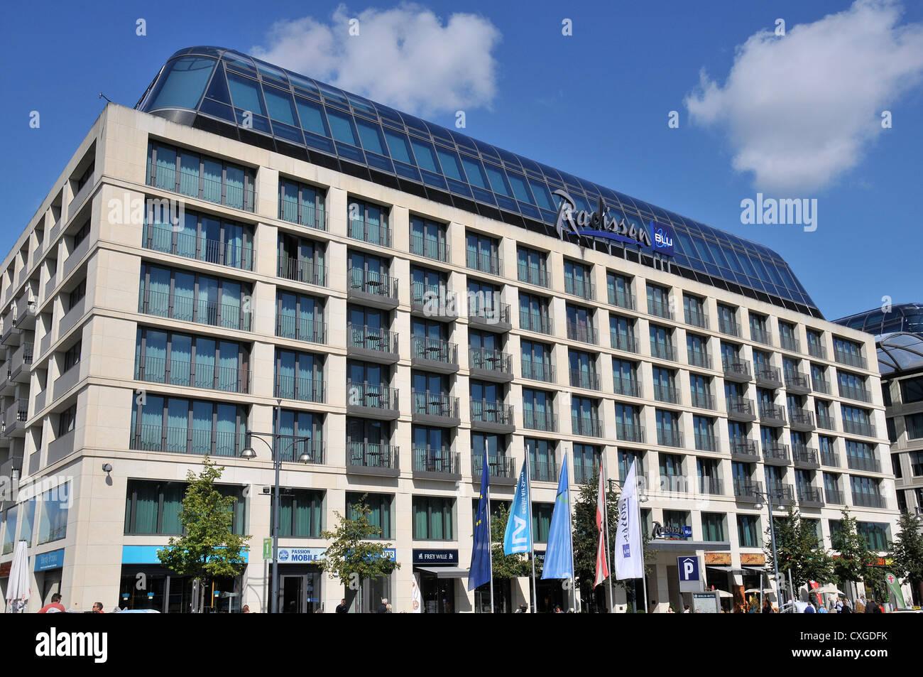 Radisson Blu hotel Berlin Germany - Stock Image