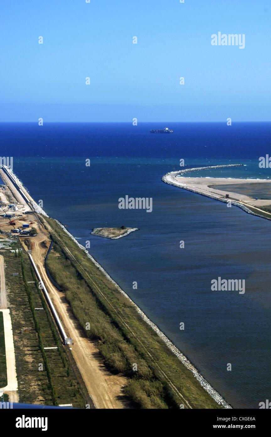 Spain. Catalonia. Mouth of the Llobregat river. El Prat de Llobregat. - Stock Image