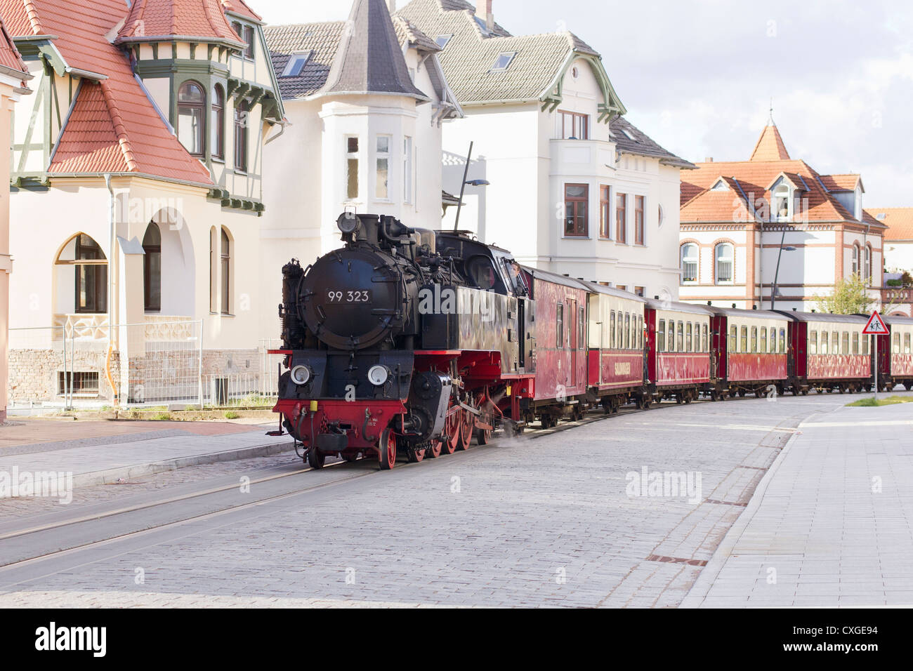 steam locomotive pulling a passenger train the molli bahn at bad stock photo 50764256 alamy. Black Bedroom Furniture Sets. Home Design Ideas