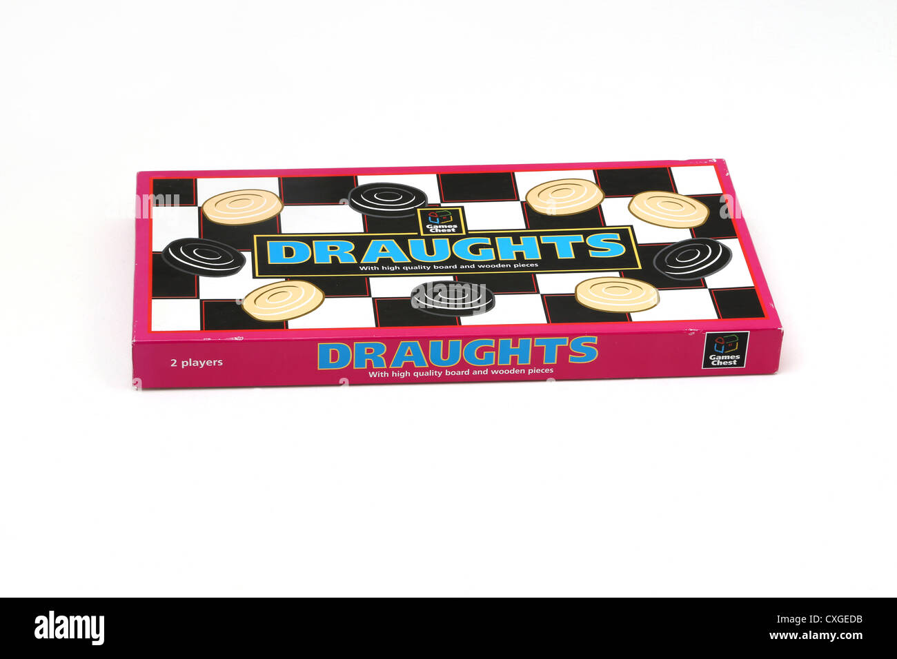 Draughts Board Game - Stock Image