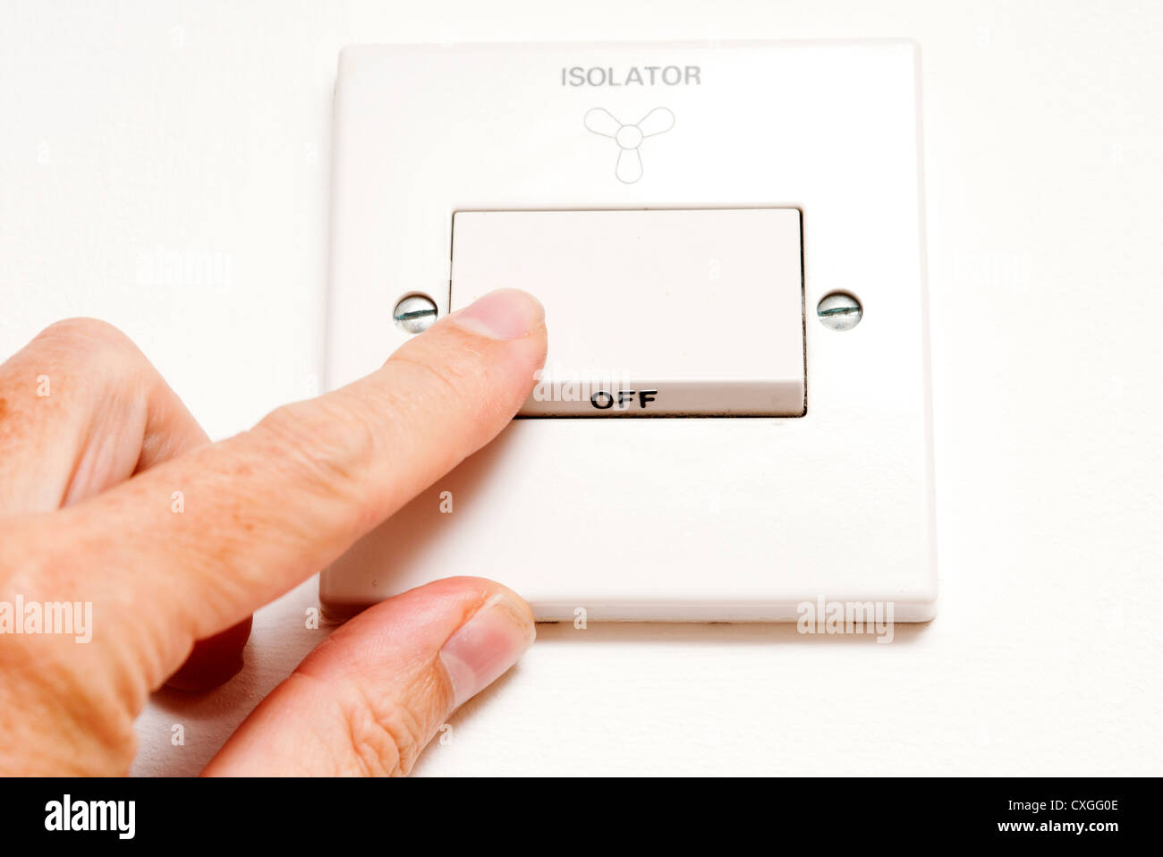 Isolator Stock Photos Images Alamy 4 Way Switch Turning Off An On A Domestic Kitchen Or Bathroom Fan Image