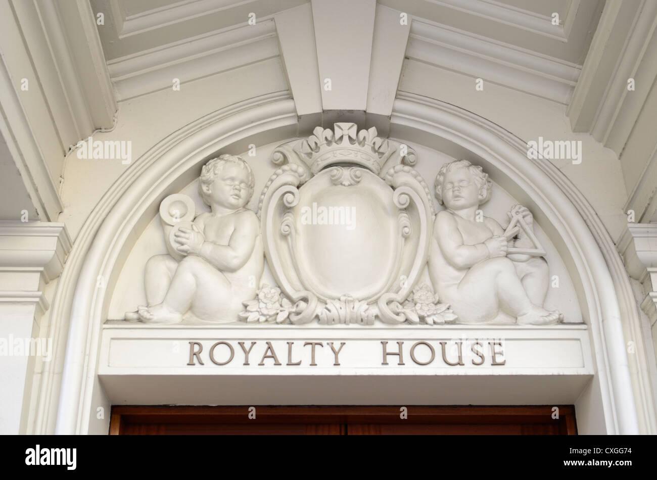 Royalty House in Dean Street, Soho, London, England - Stock Image
