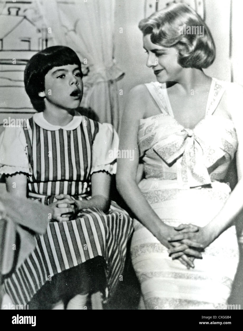 ROSEMARY CLOONEY (1928-2002) US singer on her US TV show with sister Gayle  about 1956 - Stock Image