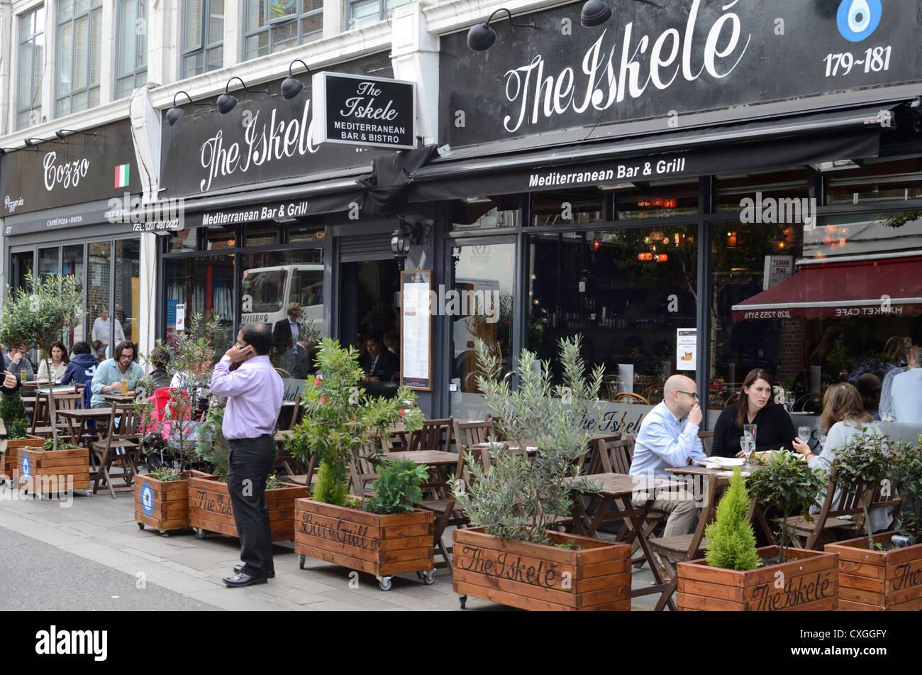 Iskele Mediterranean restaurant, Whitecross St, Clerkenwell, London, England - Stock Image