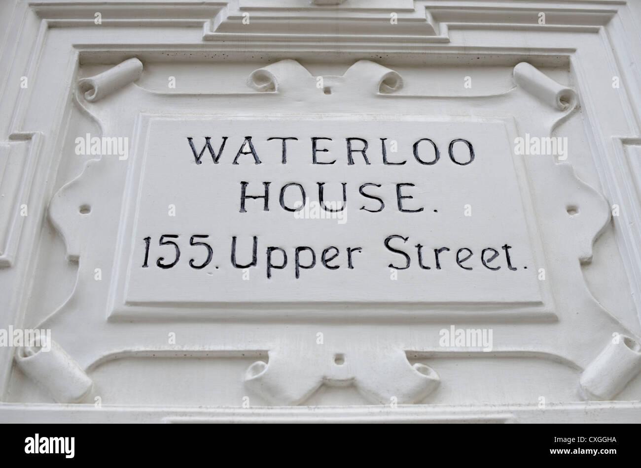 Waterloo House, 155 Upper Street, Islington, London, England - Stock Image