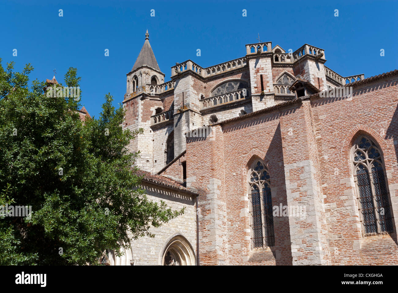 St Etienne Cathedral, Cahors, Lot, France Stock Photo