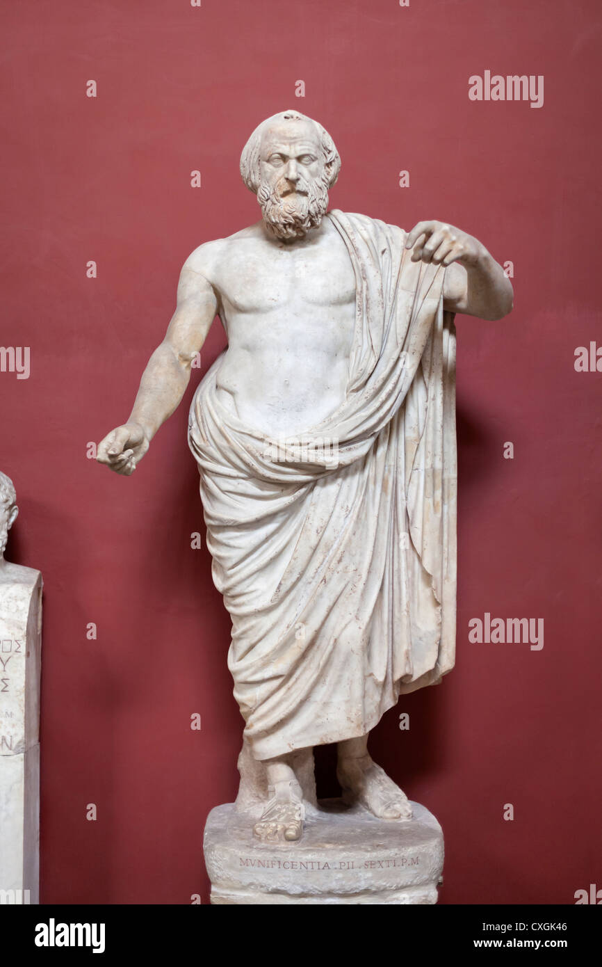 Statue of Homer - Stock Image