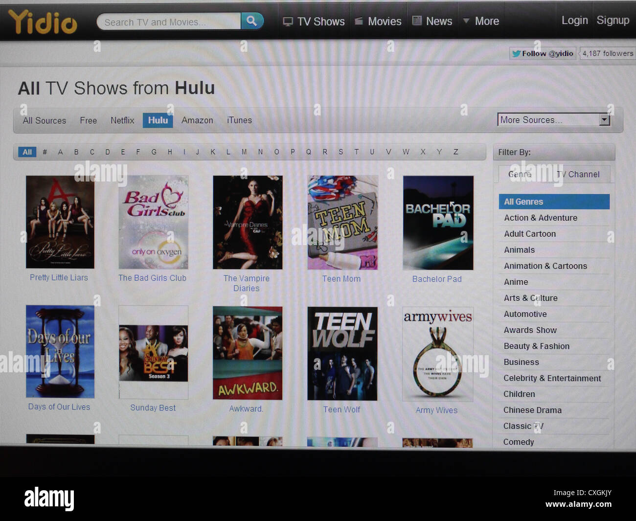 online tv show streaming stream watch Stock Photo: 50768451 - Alamy