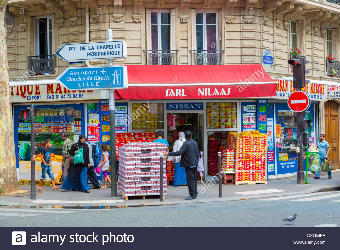 local ethnic shops in gare du nord area of paris france