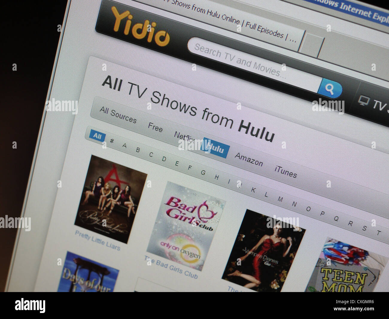 watch tv shows movies online streaming - Stock Image