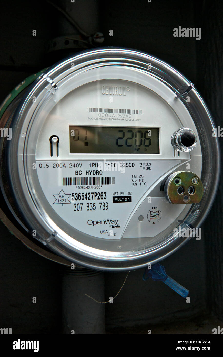 Digital Home Electricity Meter Stock Photos & Digital Home
