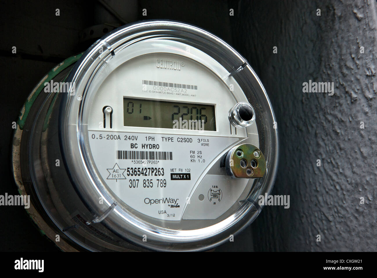 Power Consumption Meter Stock Photos & Power Consumption