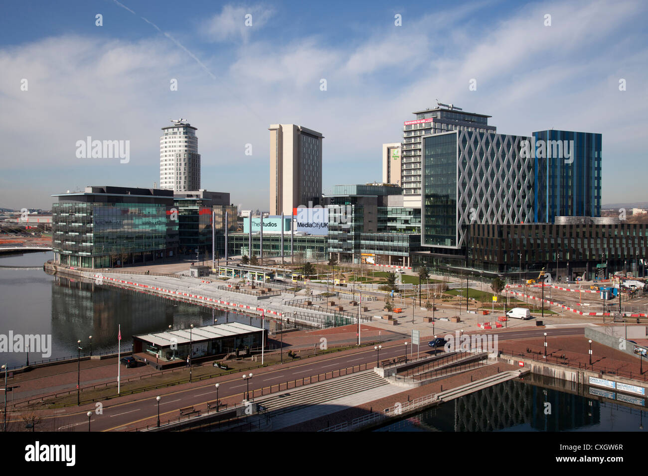 The Media city UK complex at Salford Quays. - Stock Image