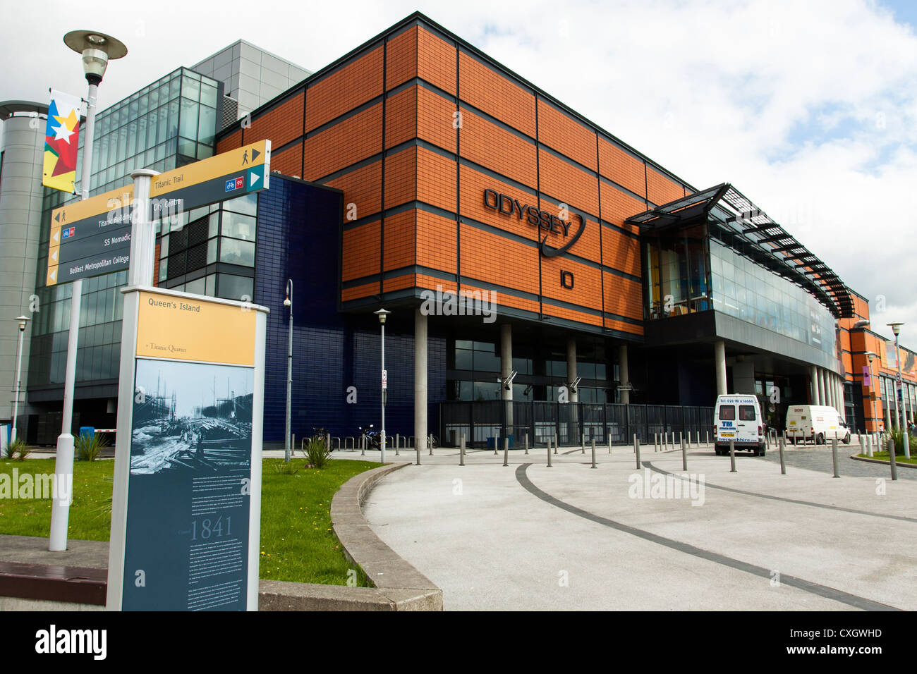 The Odyssey, Belfast, Northern Ireland. This complex is used for concerts and is home to the Belfast Giants Ice - Stock Image