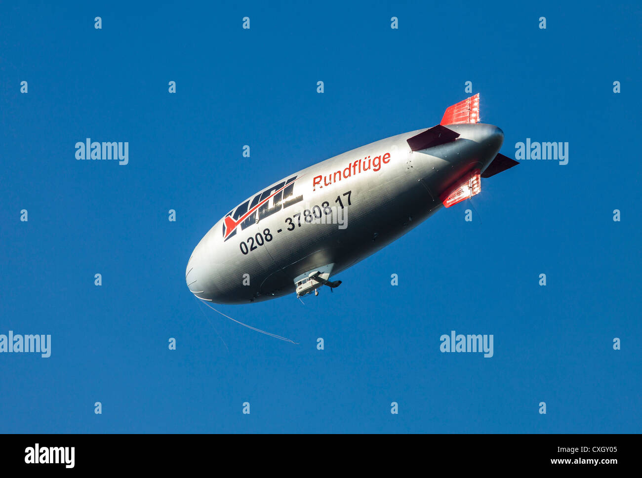 Blimp, airship, Germany - Stock Image
