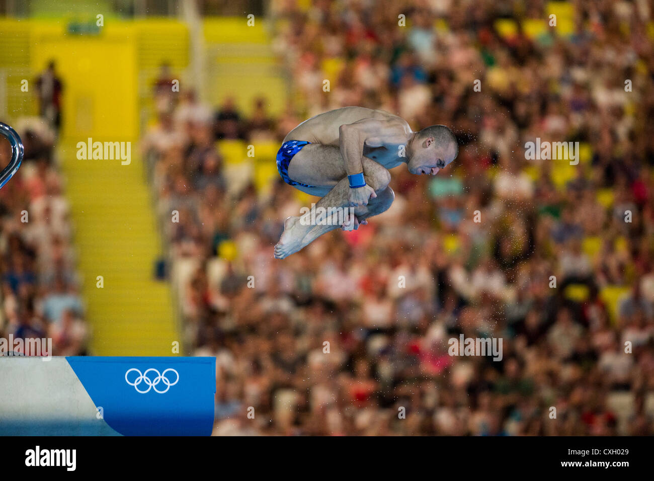 Gleb Galperin (RUS) competing in 10m platform diving at the Olympic Summer Games, London 2012 - Stock Image