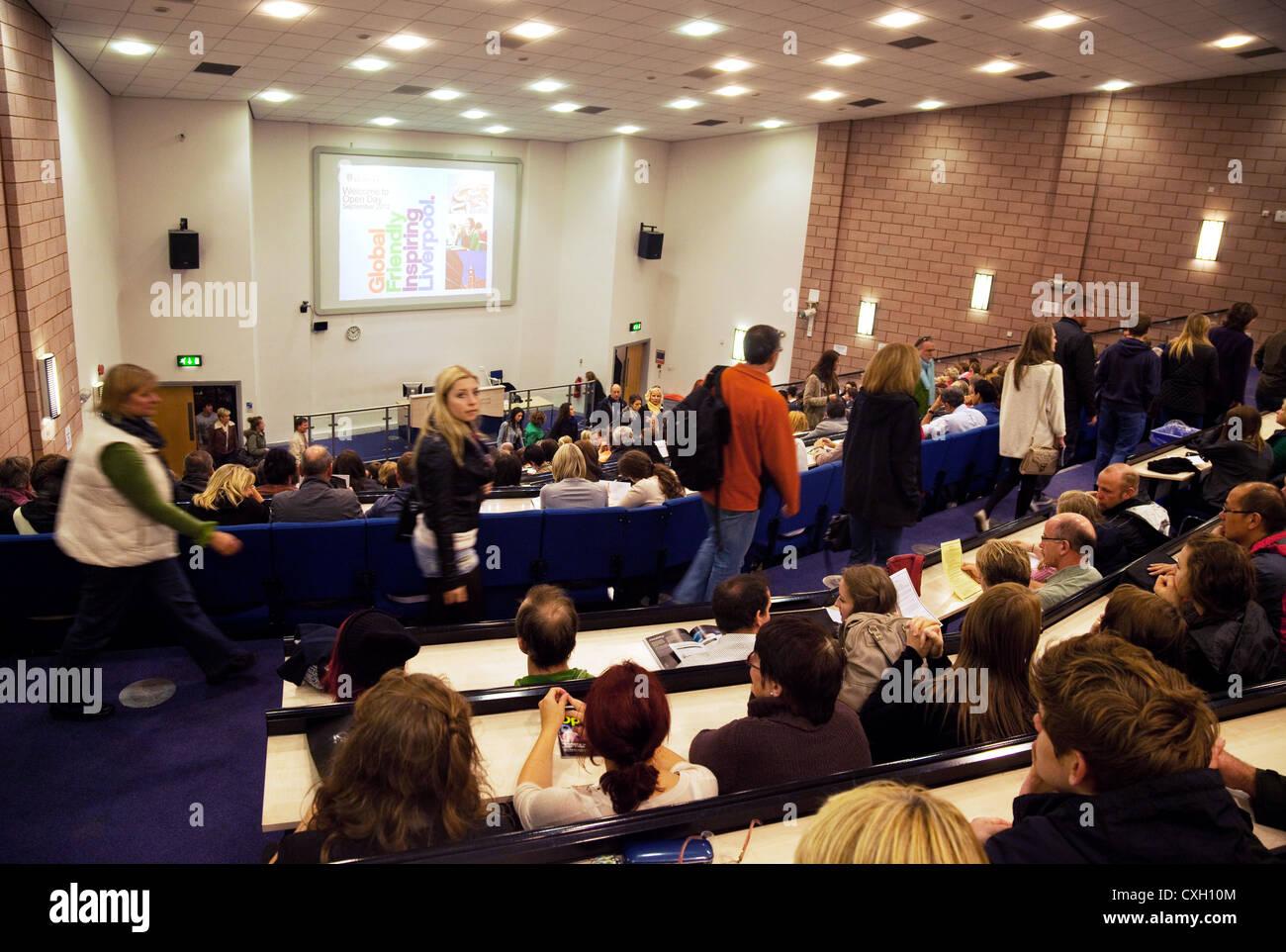 Students attending a lecture, Liverpool University, Merseyside, Lancashire UK - Stock Image