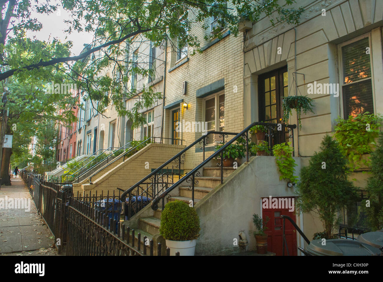 Hoboken New Jersey Usa Street Scenes Townhouses Row Houses Stock Photo Alamy
