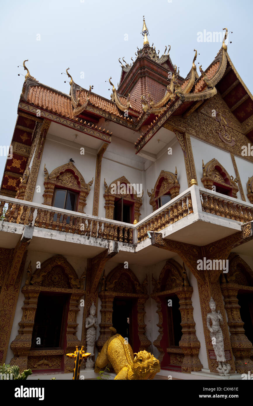 The Temple Wat Buppharam in Chiang Mai in Thailand Stock Photo