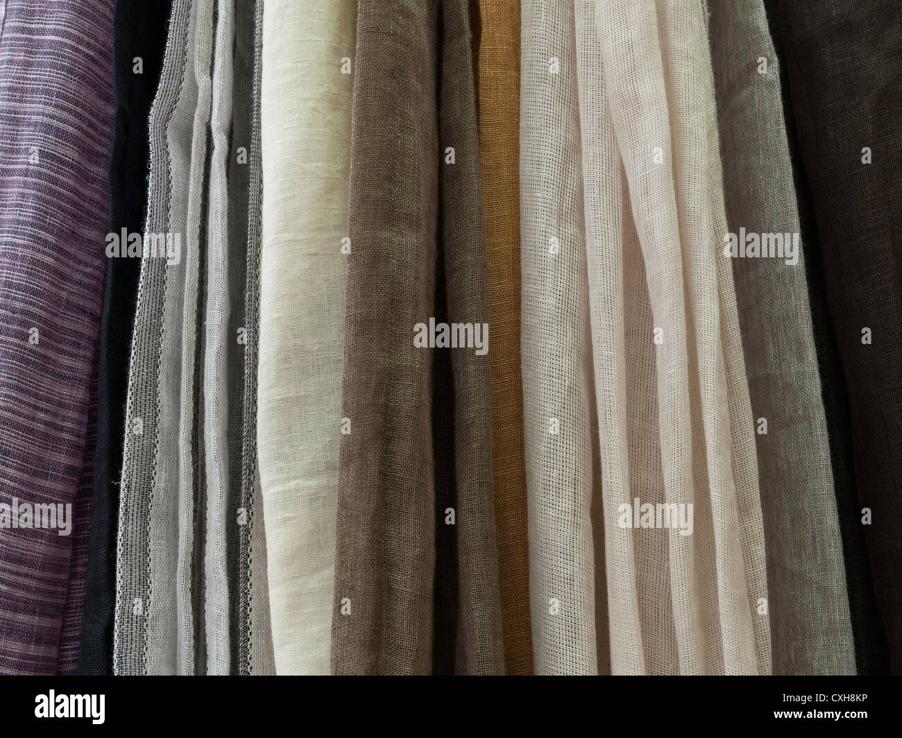 Selection of curtains - Stock Image
