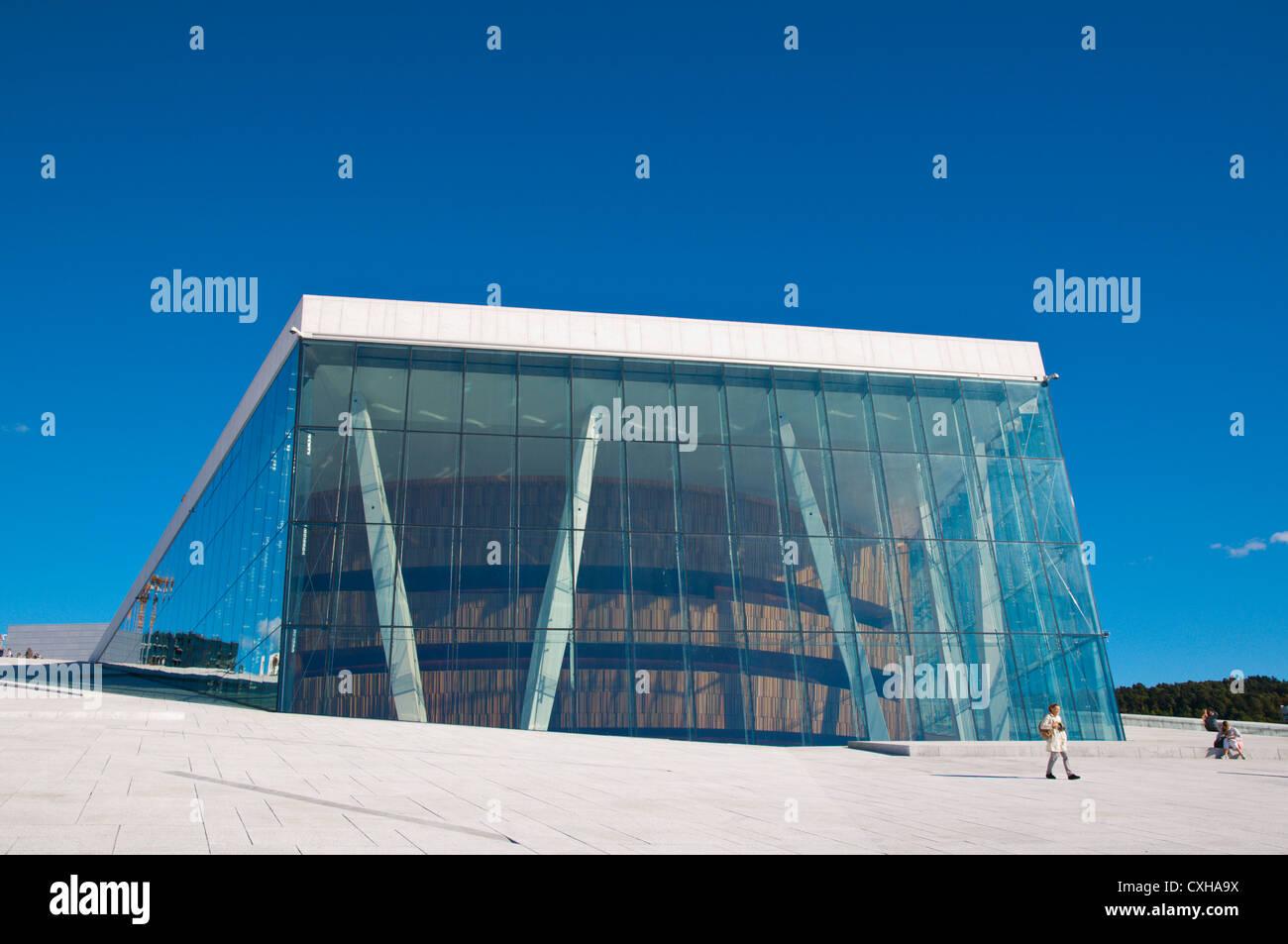 Den Norske Opera og Ballett the opera house (2007) Sentrum central Oslo Norway Europe - Stock Image
