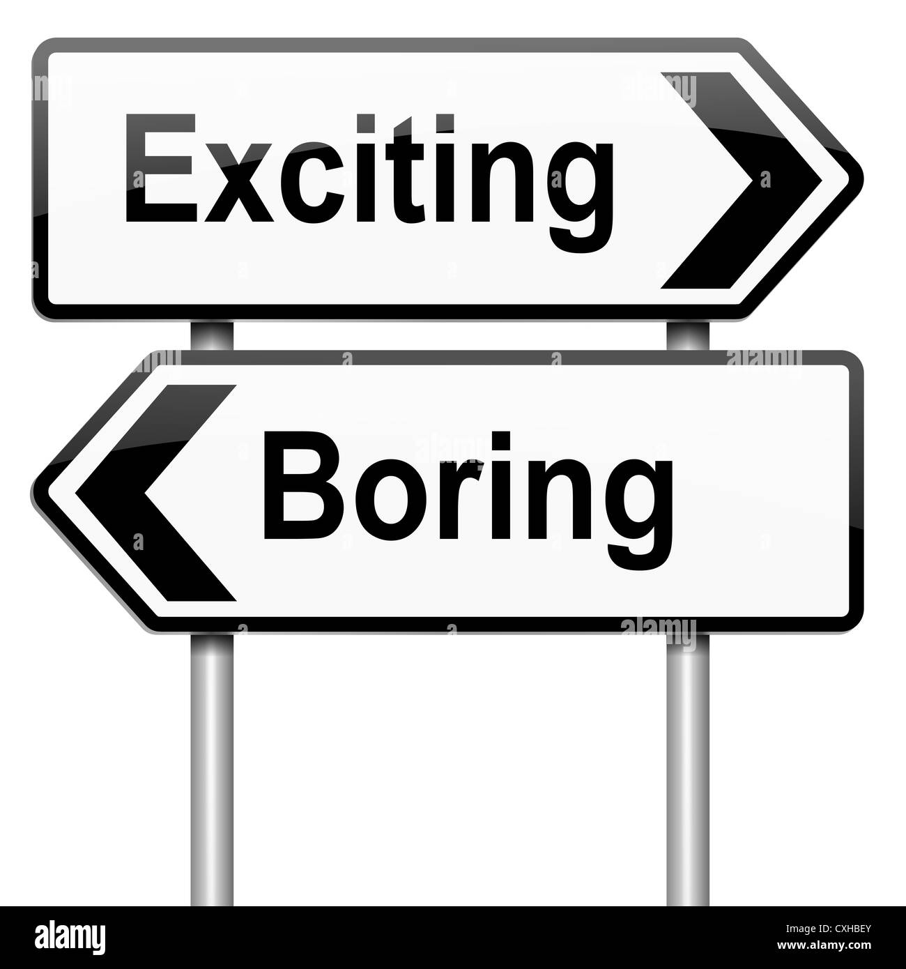 Exciting or boring. Stock Photo