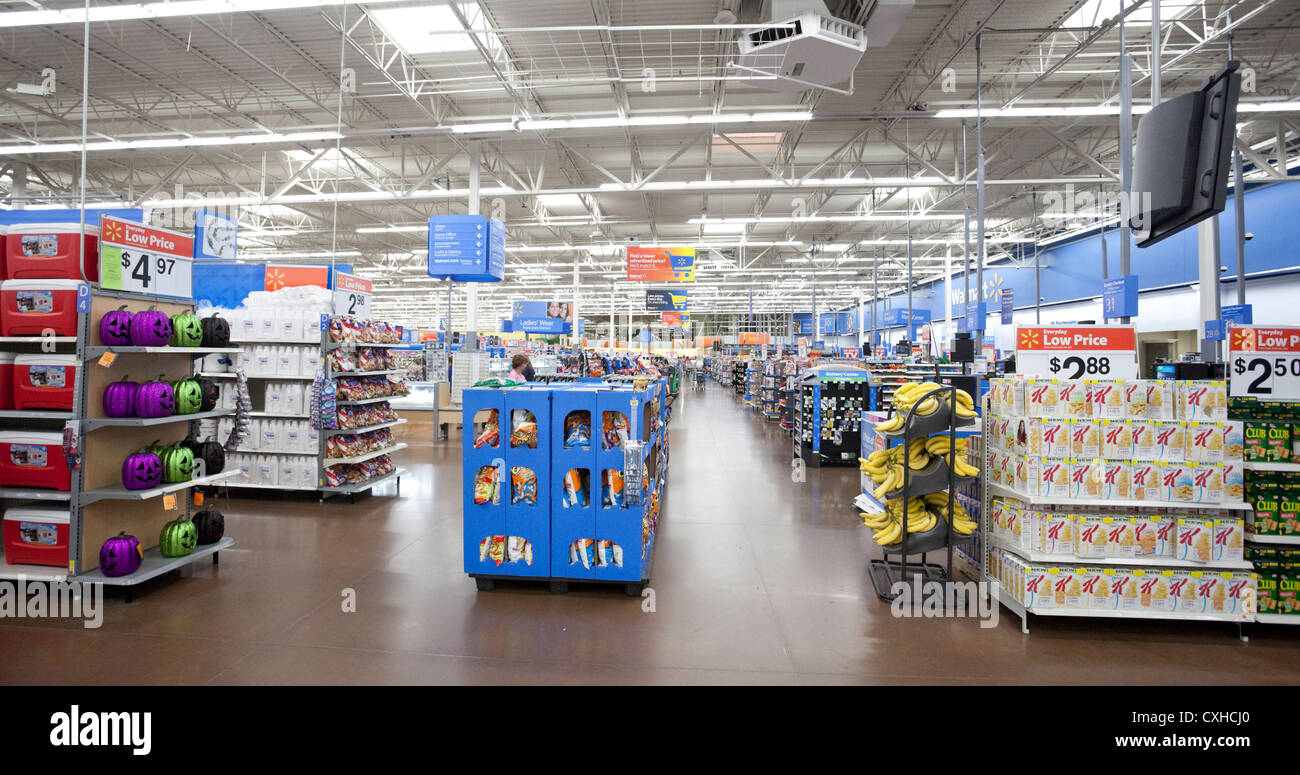 interior of a walmart store in miami floria usa stock photo 50784888 alamy. Black Bedroom Furniture Sets. Home Design Ideas