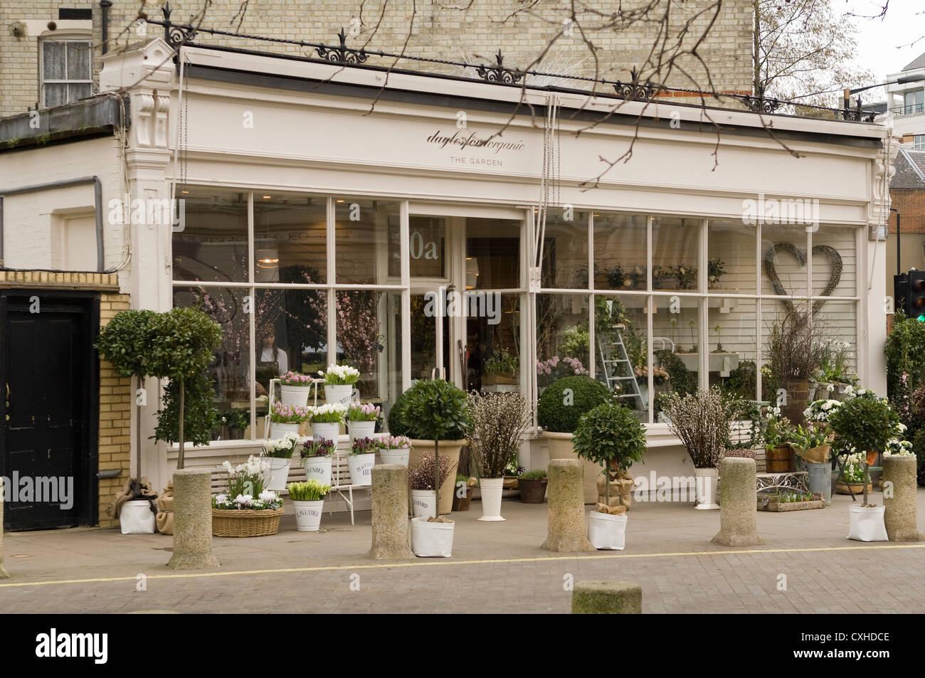 Daylesford Organic florist on London's Pimlico Road - Stock Image