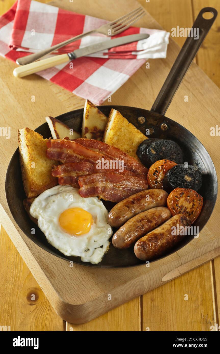 Ulster Fry Irish breakfast - Stock Image