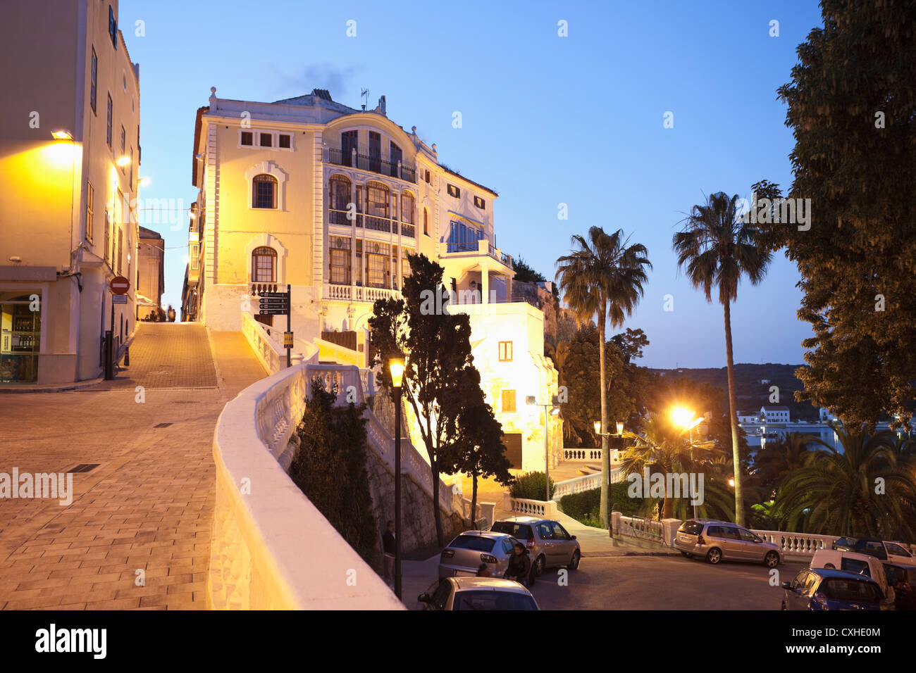 Spain, Menorca, Mahon, Classicism in old town - Stock Image