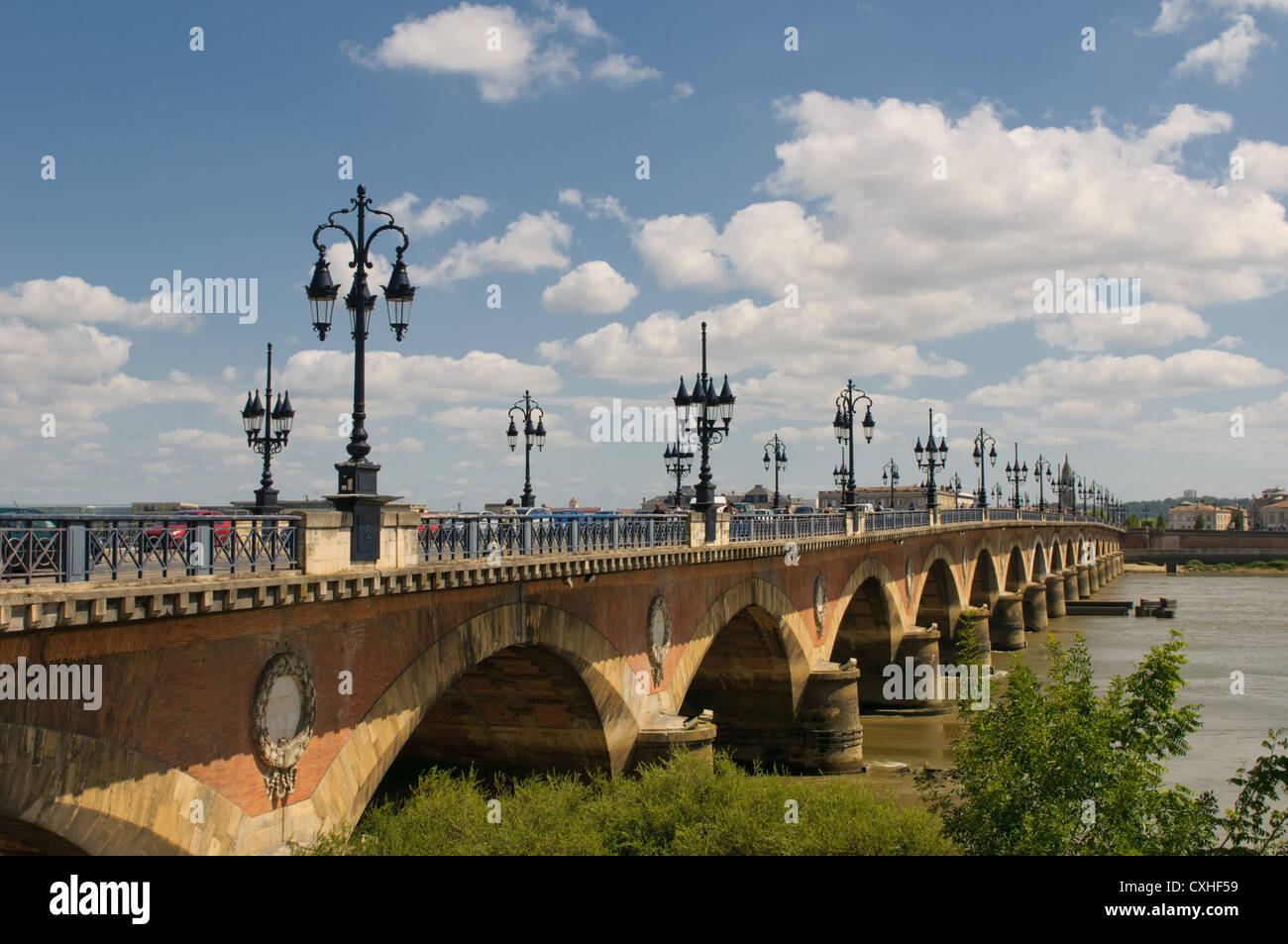 Pont de pierre, Bordeaux, France - Stock Image