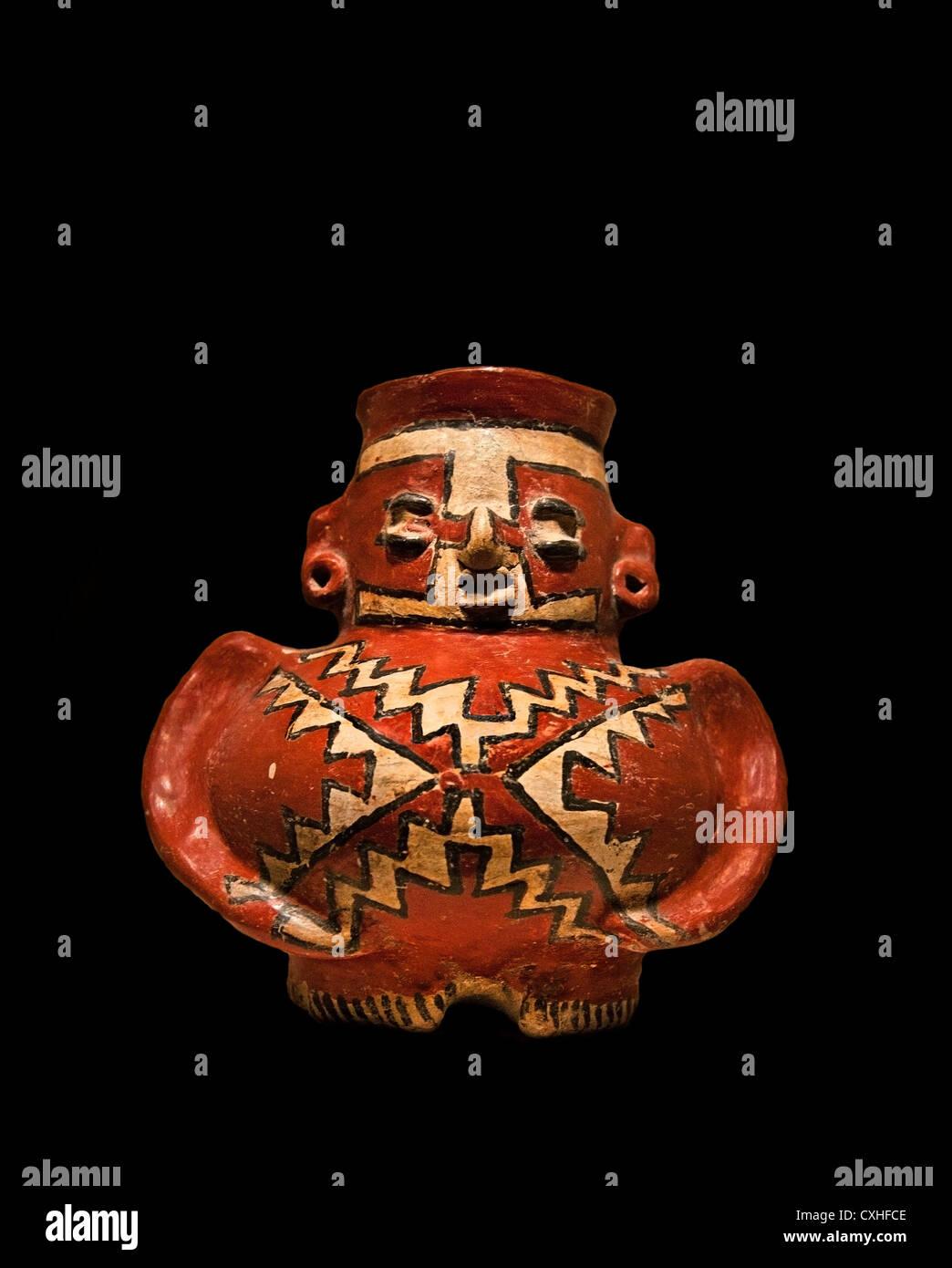 Figure Vessel 3rd–1st century BC Mexico Mesoamerica Michoacan Guanajuato Chupicuaro  Ceramic 13.7 cm  Container - Stock Image