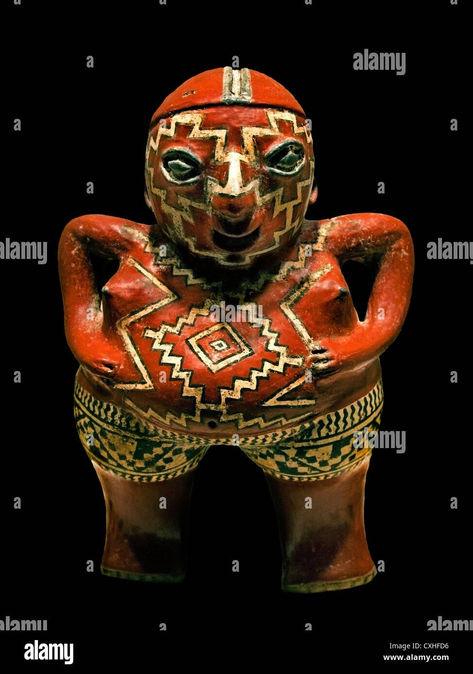 Figure Female 3rd–1st century BC Mexico Mesoamerica Michoacan Guanajuato Chupicuaro  Ceramic - Stock Image