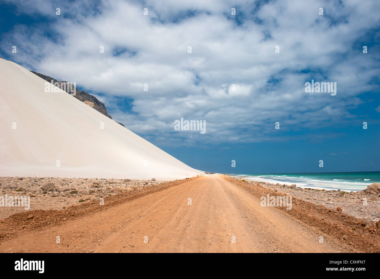 Sand dunes of Archer, Socotra island, Yemen - Stock Image