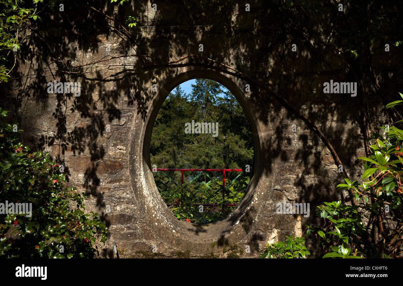 Moon Window in a Stone Wall, Mount Congreve Gardens, Near Kilmeaden ...