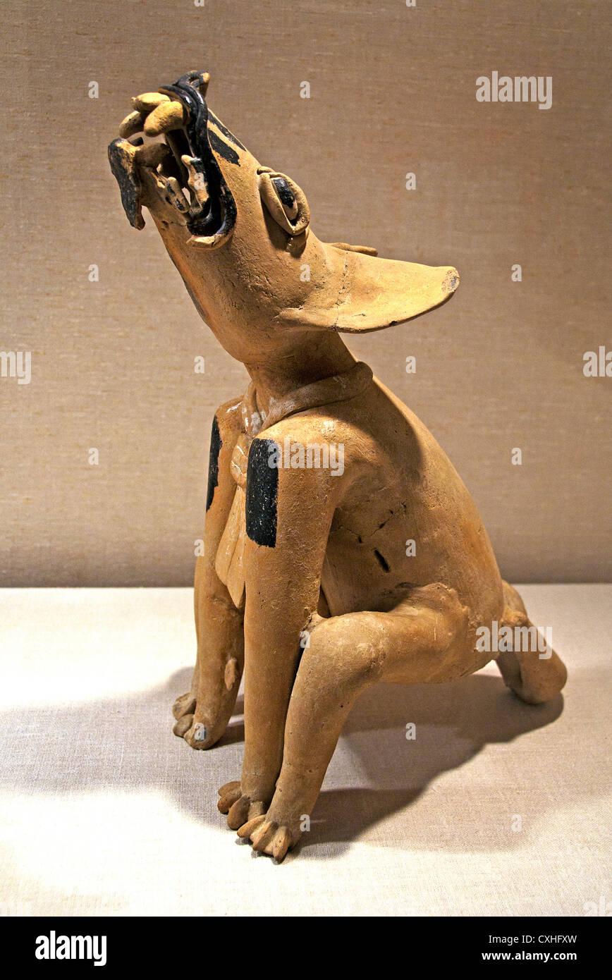 Howling Canine 5th century Mexico Mesoamerica Veracruz  Remojadas Ceramic 51 cm - Stock Image