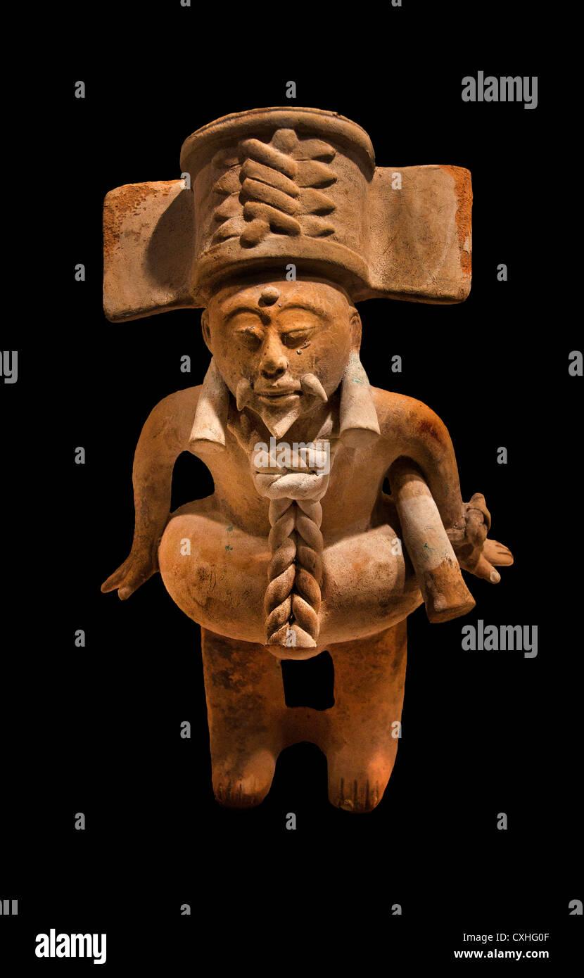 Ball Player 7th–10th century Mexico Mesoamerica Veracruz  Nopiloa Ceramic  26 cm - Stock Image