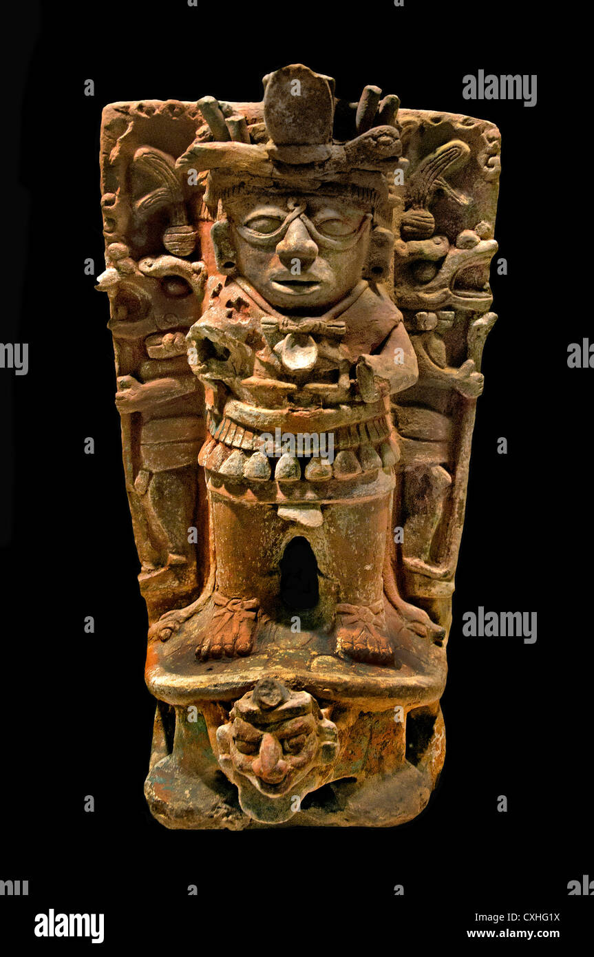Censer Support 7th- 9th century  Mexico Mesoamerica  Maya Ceramic 54 cm - Stock Image
