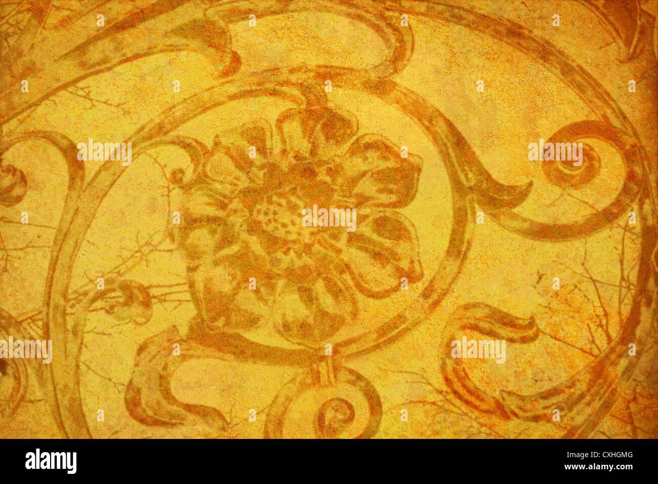Black Gold Rose Wallpaper Background Stock Photos