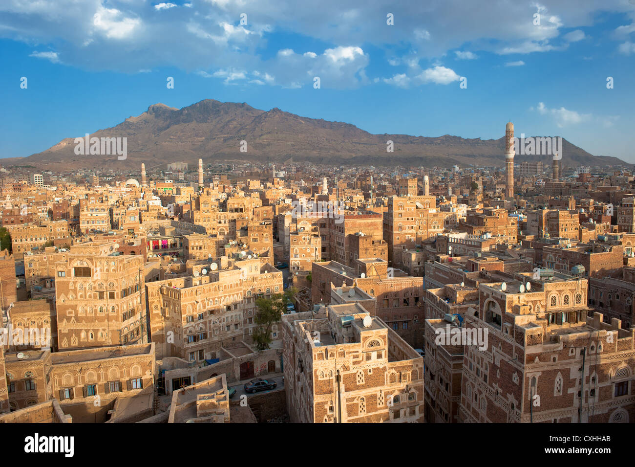 Panorama of Sanaa, Yemen Stock Photo