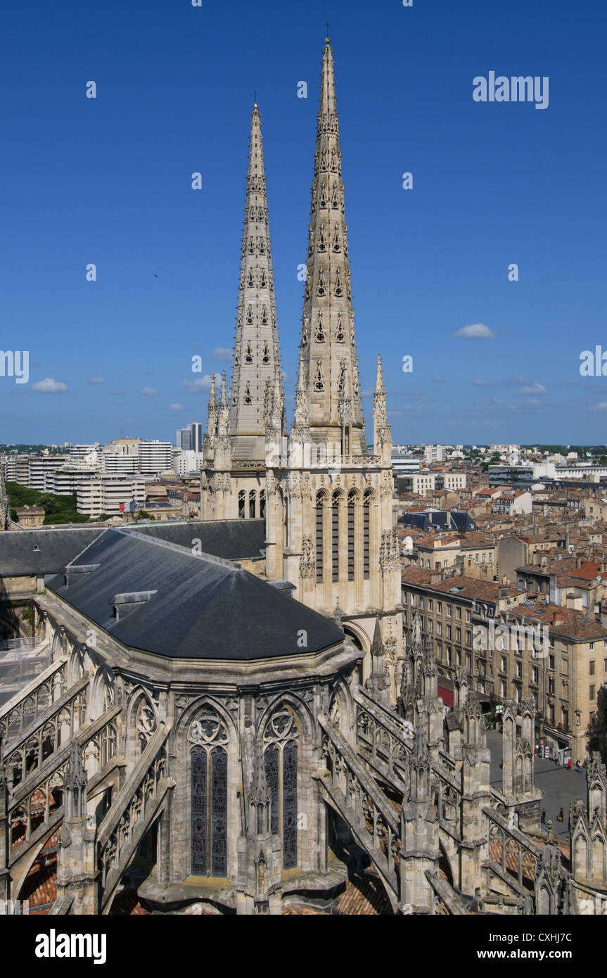 St. Andrew's Cathedral, Bordeaux, France - Stock Image
