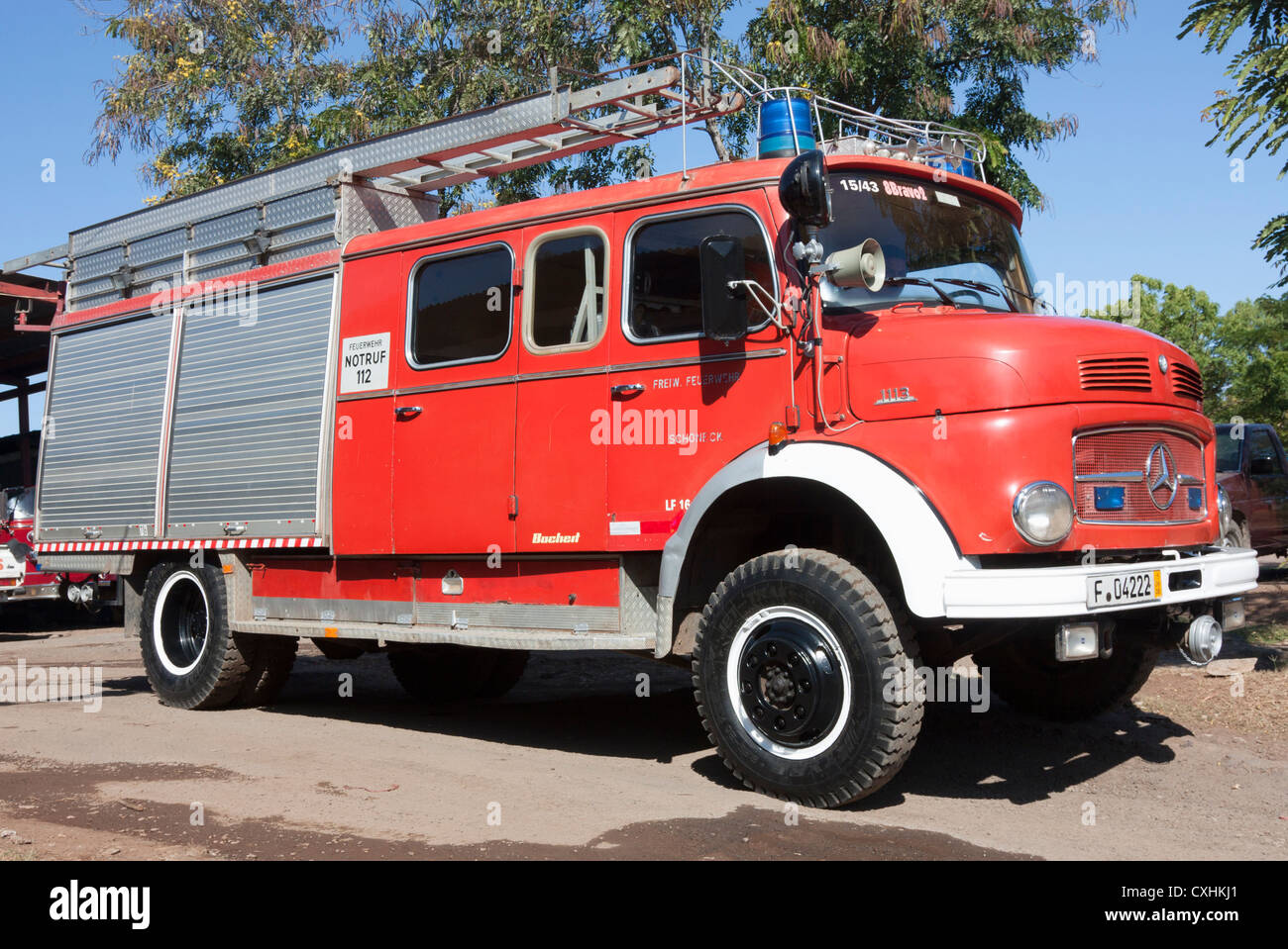 Vintage 1960s Mercedes 1113 Fire Truck Still In Front Line Service Will The  Volunteer Fire Department
