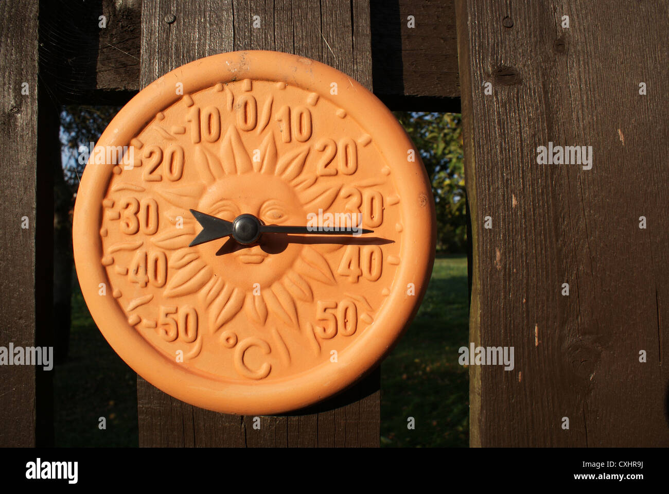 Charming Outdoor Terracotta Thermometer