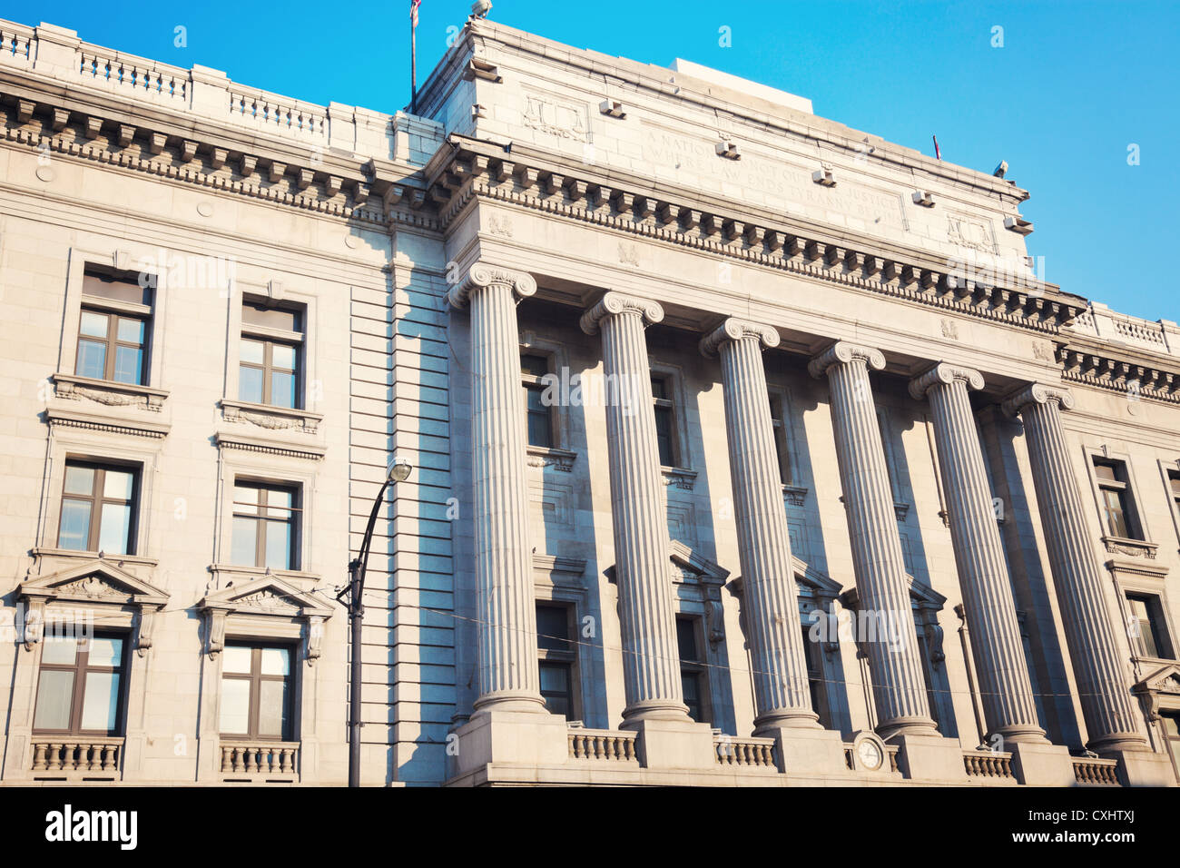 Old courthouse in the center of Youngstown - Stock Image