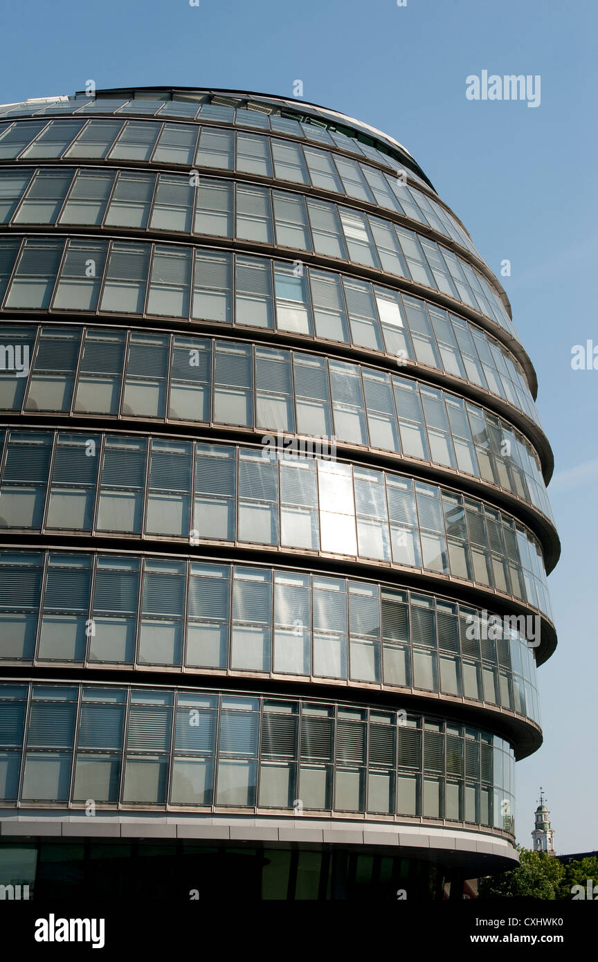 City Hall, headquarters of the Greater London Authority on the south bank of the River Thames near Tower Bridge, - Stock Image