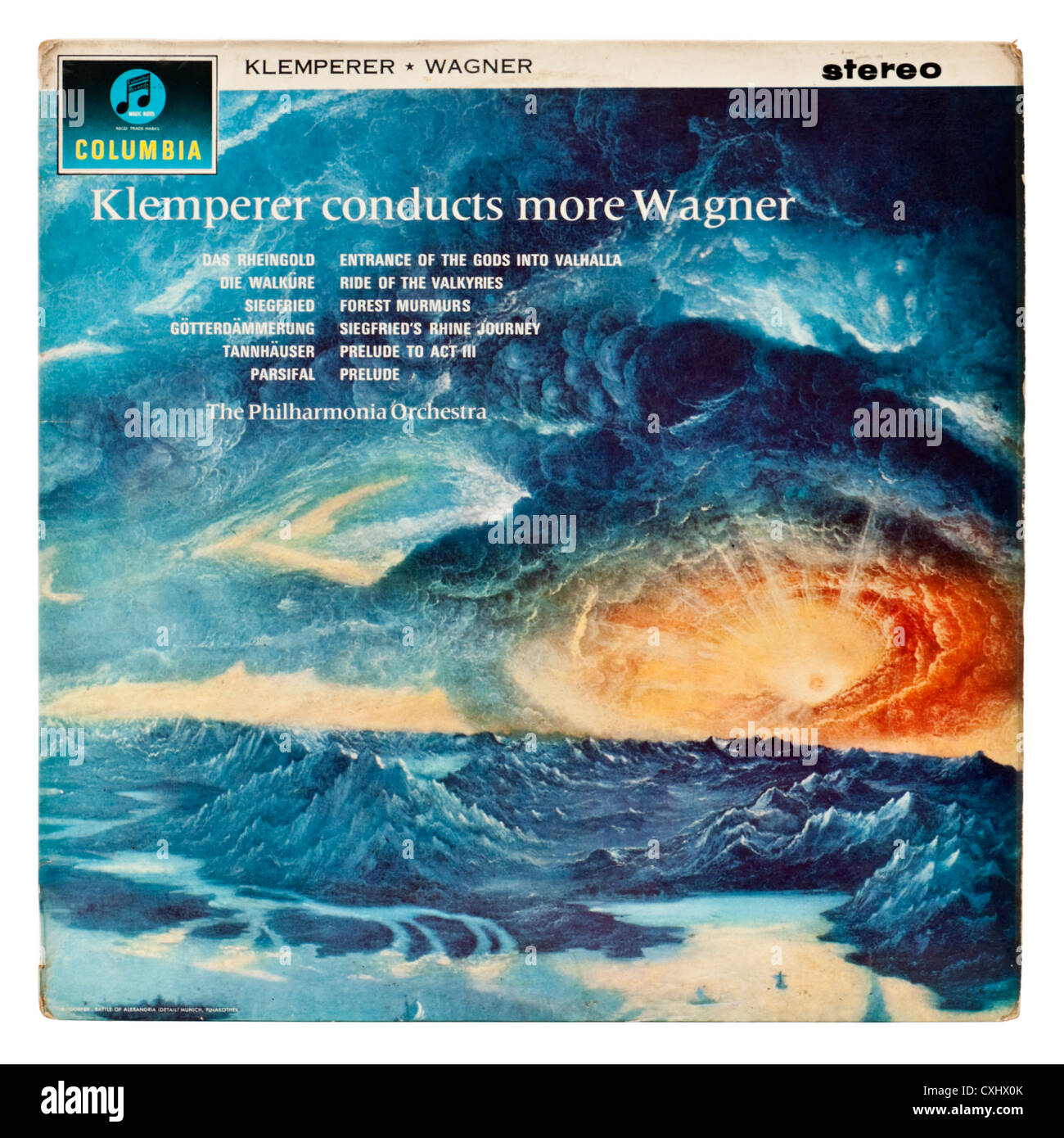 Very rare Columbia SAX 2464 classical record -  'Klemperer conducts more Wagner' - Stock Image