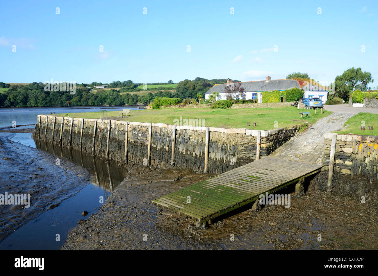 Angela Carnon the wharf on the river carnon at point near devoran in