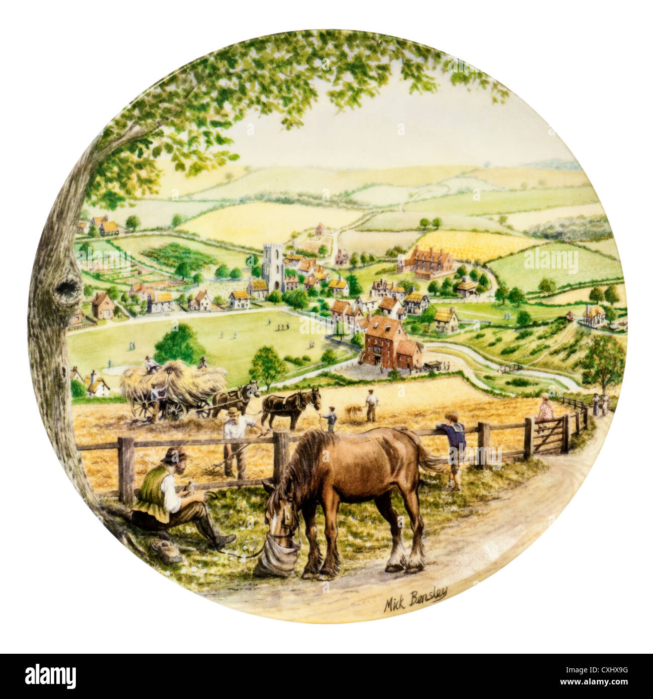 Royal Doulton porcelain collector plate - 'Milnsey Beck', special finale issue (9th) in the 'Journey - Stock Image