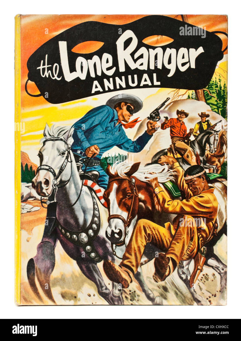 1956 Lone Ranger Annual, the 2nd annual to be published - Stock Image