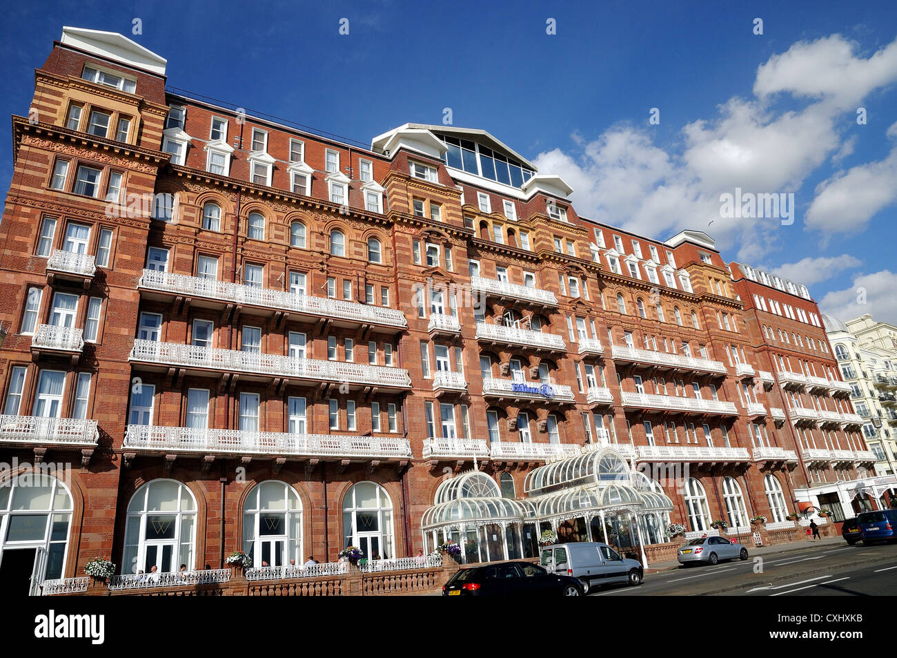 Exterior of The Metropole hotel Brighton Sussex - Stock Image